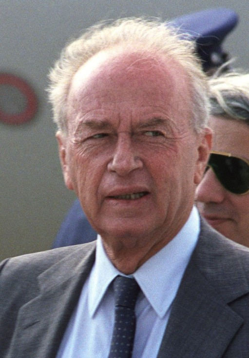 Israeli Minister of Defense Yitzhak Rabin arrives in the United States.